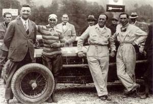 Nuvolari con Enzo Ferrari, allora direttore sportivo dell'Alfa Romeo. Siamo negli anni '30